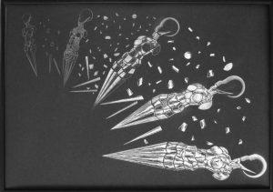 ,,Decomposition'', ink on paper, 50-70cm -1