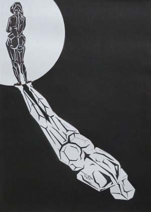 The Shadow, ink on paper, 30-42cm