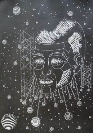 The Structure, ink on paper, 42-60cm