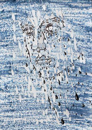Melancholy, ink on paper, 30-42cm