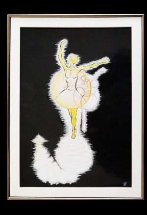 The ballet ink on paper 30-42cm